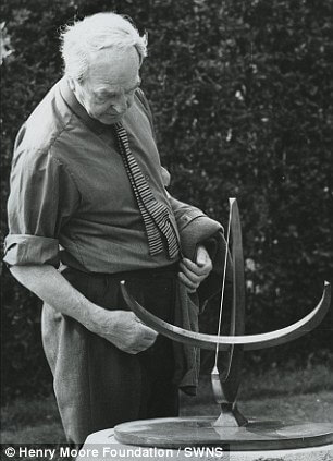 Henry Moore with Sundial