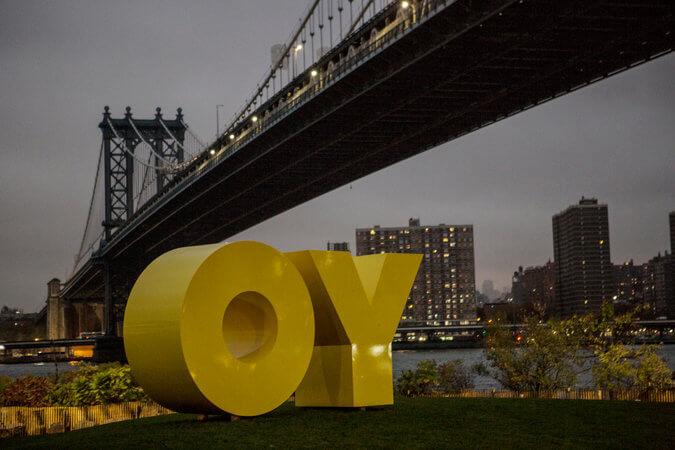 """""""OY/YO"""" by Deborah Kass"""