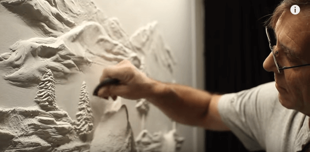 Bernie Mitchell drywall sculpture