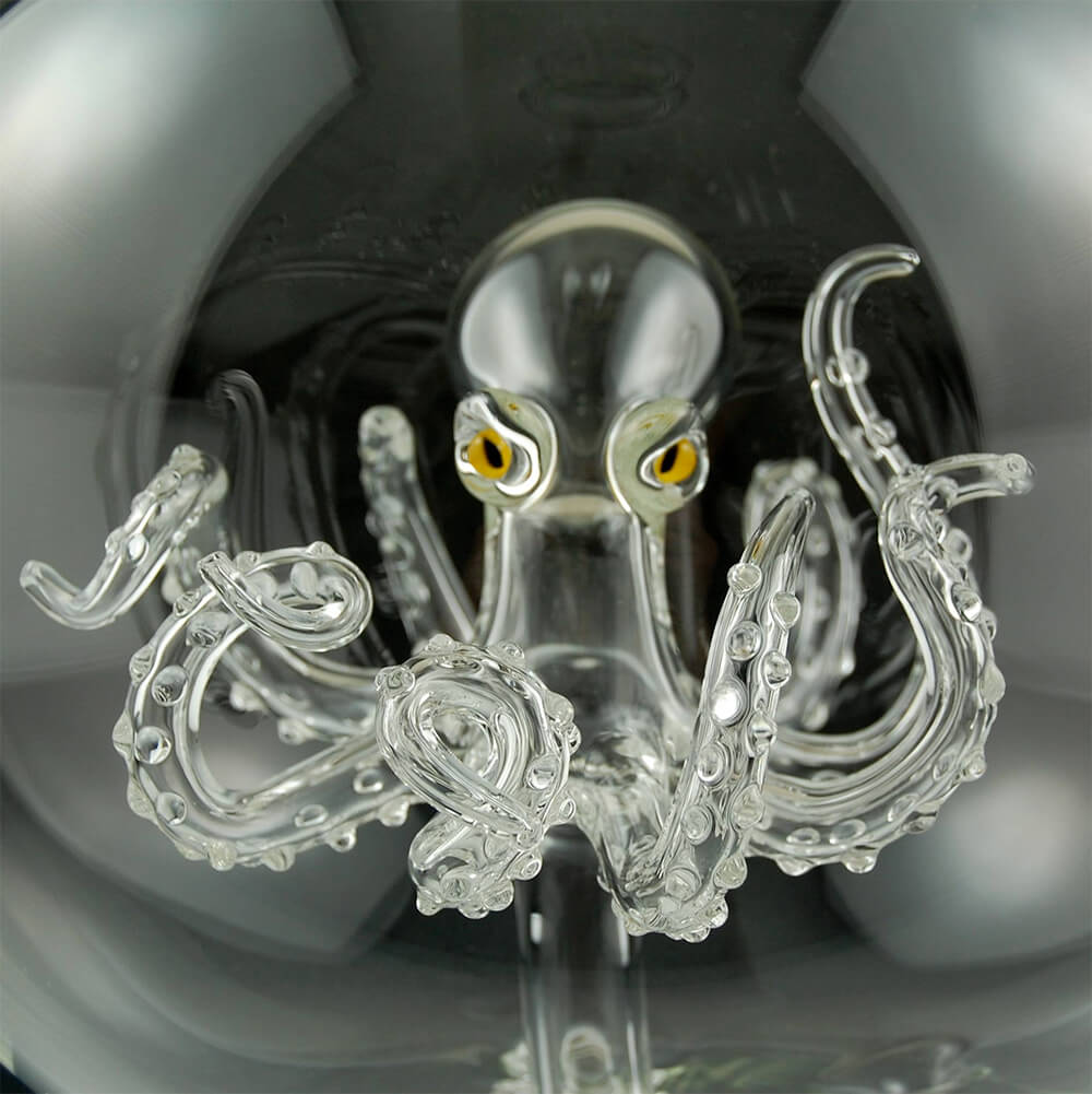 Glass art octopus by Kiva Ford