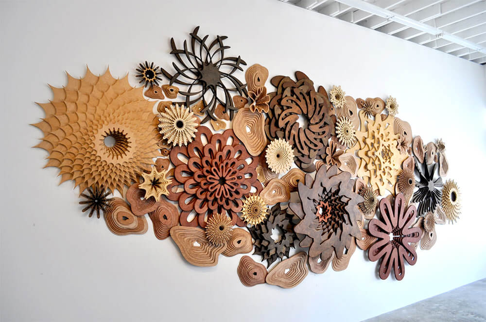 Joshua Abarbanel wooden sculpture Reef