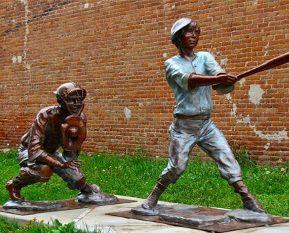 Eau Clair sculpture tour For the Love of the Game by Bobbie Carlyle