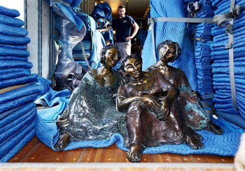 Eau Claire sculpture tour Gossip by Shohini Ghosh