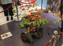 Lego Fox Sculpture Destroyed by Child
