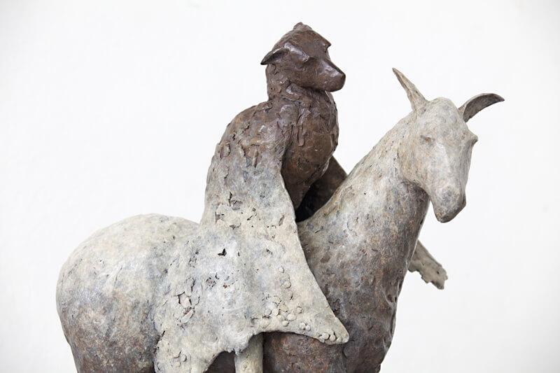 bat on donkey by Copper Tritscheller