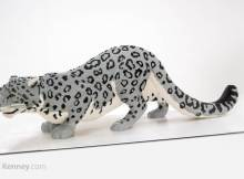 clouded leopard lego sculpture by Sean Kenney