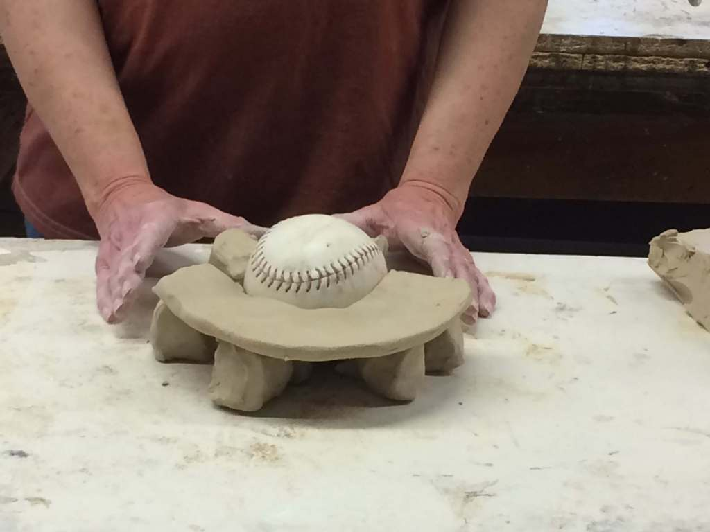 sculpture mold making clay fence