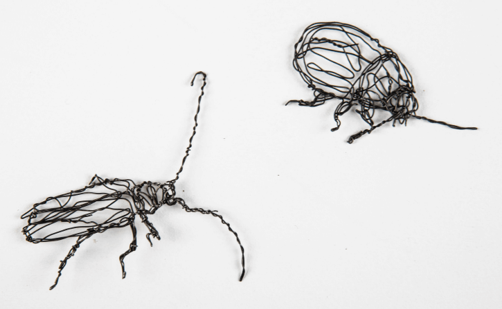 wire sculpture of insects by RosemaryCraft