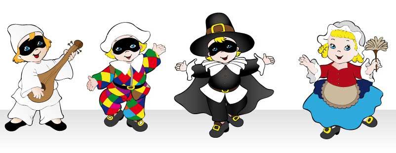 Risultati immagini per disegni di bambini in maschera carnevale