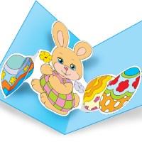 Pasqua, biglietto pop-up del coniglietto