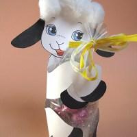Pasqua - Agnellino porta ovetti di cioccolato