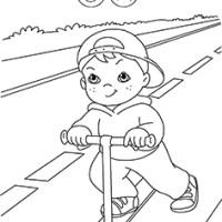 Disegni da colorare sull'Educazione Stradale