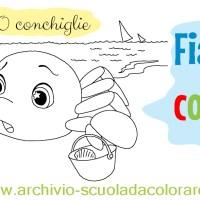 Lavoretti per l'estate scuola d'infanzia: la storia da colorare della 10 conchiglie