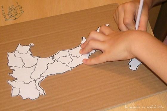 Cartina Lombardia Da Colorare.Realizzare Una Cartina D Italia Per I Bambini