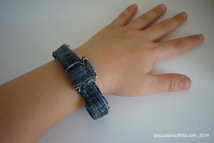 braccialetto in jeans