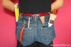 Giocattoli fai da te per bambini: cintura degli attrezzi