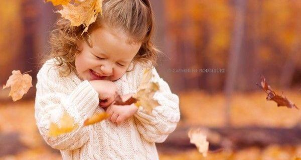 Fotografare i bambini: l'autunno come set