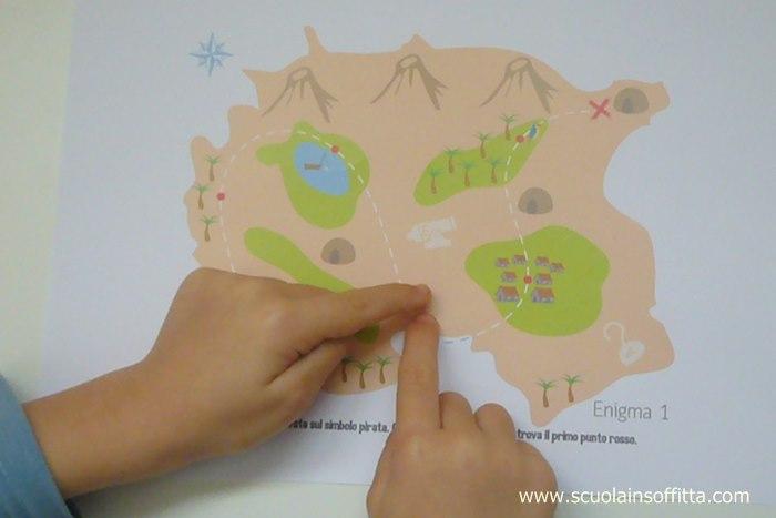 mappa del tesoro da stampare