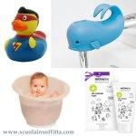 Accessori per il bagnetto del neonato e del bambino