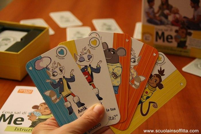 cosa sai di me carte gioco sassi family