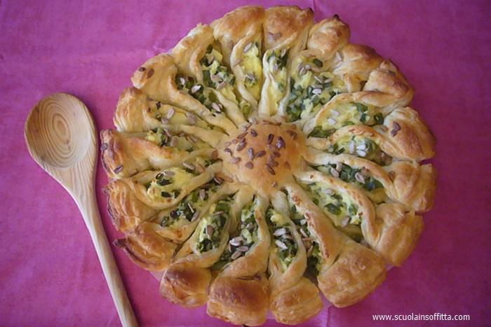 torta salata girasole ricetta per bambini
