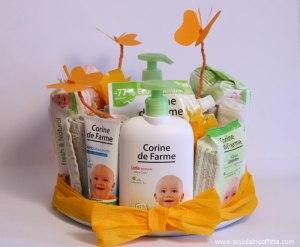 torta di pannolinie prodotti naturali per bambini