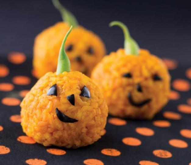 alternative alla zucca di halloween arancini di riso