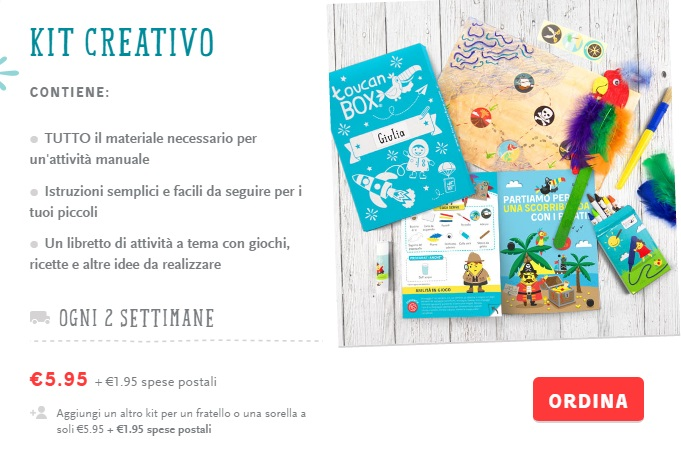 toucanbox kit creativi