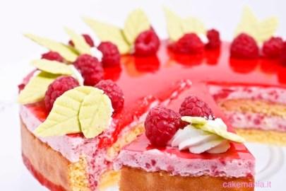 torta charlotte di lamponi