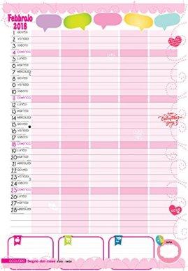 calendario della famiglia rosa