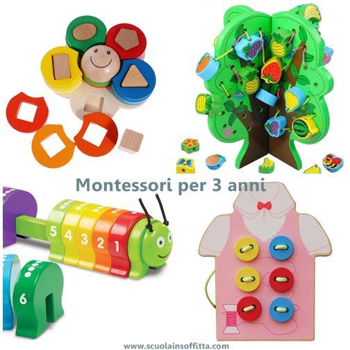 giochi montessori per 3 anni