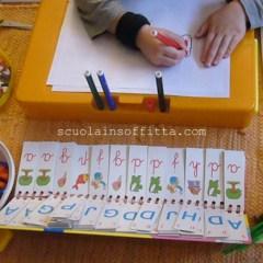 Montessori: alfabetieri per bambini