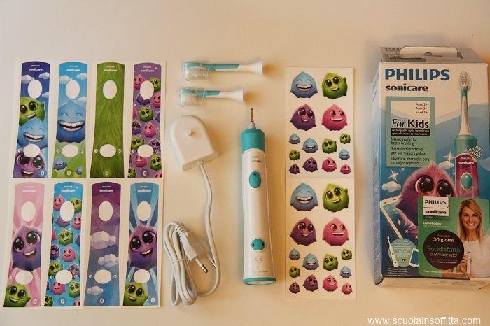 spazzolino elettrico per bambini philips sonicare for kids