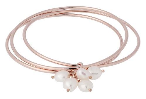 bracciale rigido con perle