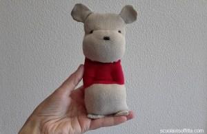 Riciclo creativo dei calzini: Winnie the Pooh