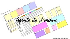 agenda da stampare con planner