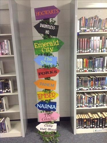 decorazioni biblioteca scolastica