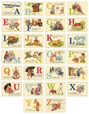 Alfabetiere vintage da stampare