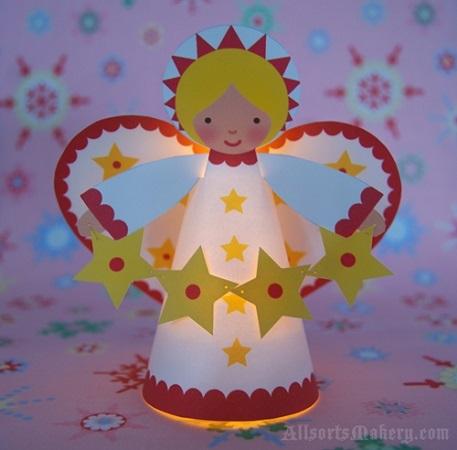 Lavoretti di Natale per bambini: angelo