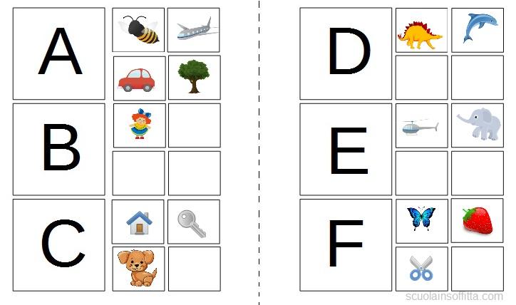 Libro dell'alfabeto illustrato da stampare