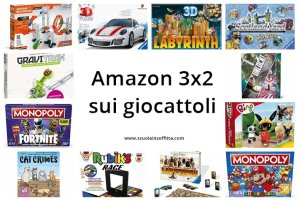 Amazon 3x2 sui giocattoli