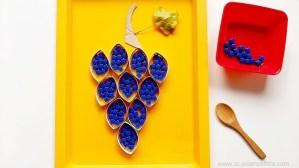 Attività di motricità fine per bambini: il grappolo di uva