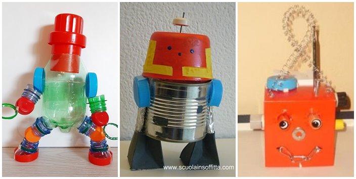 Robot di riciclo creativo