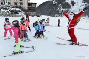Scuola sci Gran paradiso babbo natale