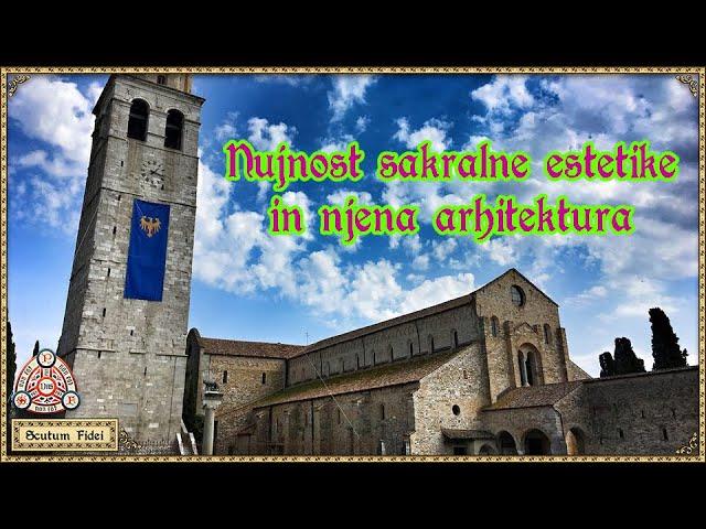 Katoliška sakralna arhitektura, estetika in etika