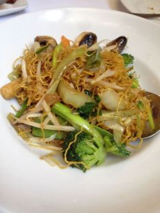 Shanghai Style Chow Mein from New Moon.   Photo: Christine N. Ziemba