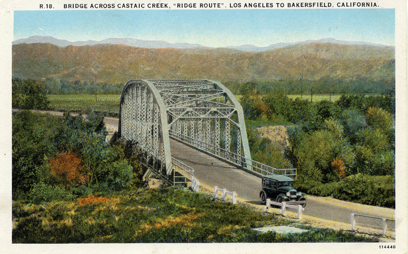 Auto Bridge Over the Santa Clarita River  CASTAIC JUNCTION