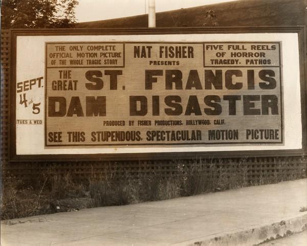 Billboard for 1928 Dam Movie