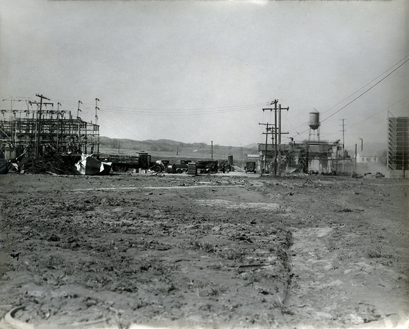 SoCal Edison Saugus Substation After the Flood ST. FRANCIS DAM DISASTER