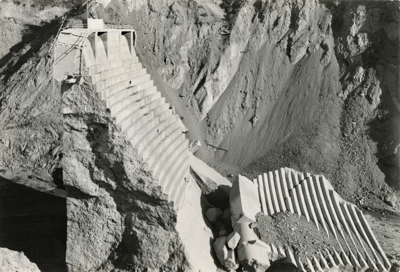 """St. Francis Dam """"Tombstone"""". EX-SAN FRANCISCO PUBLIC UTILITIES COMMISSION ARCHIVES. Photos of the St. Francis Dam disaster."""